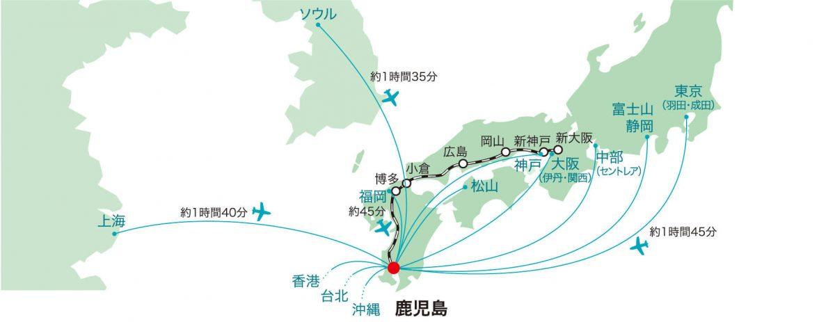 鹿児島への航路