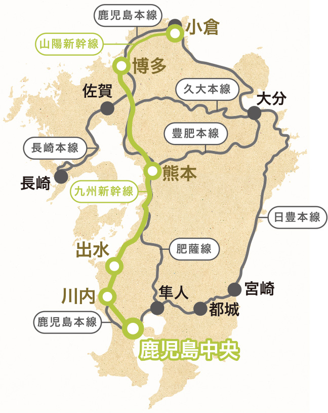 九州鉄道地図